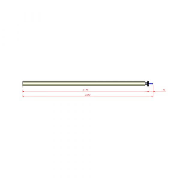 "Martak Spare Parts - Lower roller for long peeler 119"""