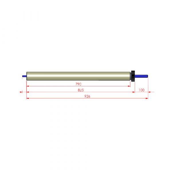 """Martak Spare Parts - Upper roller for long peeler 64"""""""