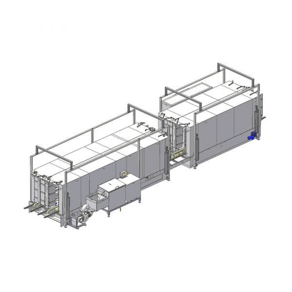 SEMI-STAAL Roll container washer