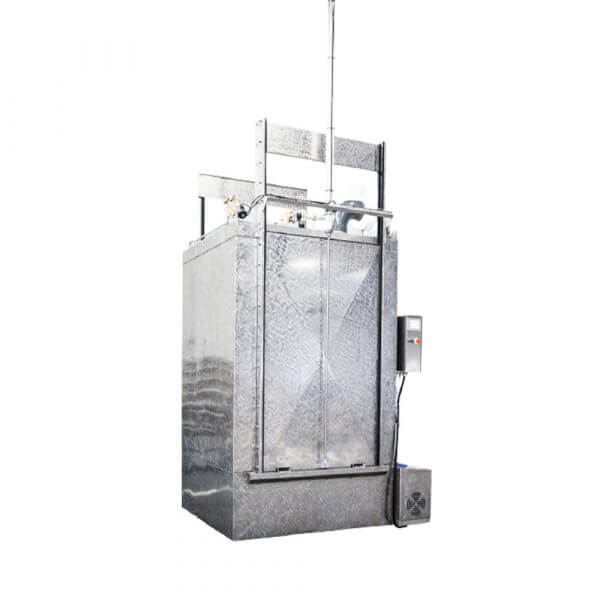 SEMI-STAAl Washer Smoke trolley machine closed