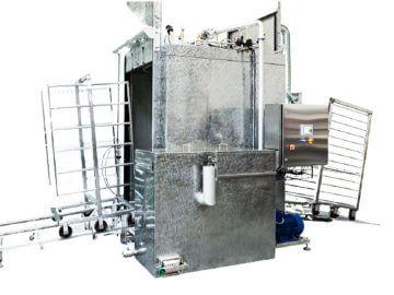 SEMI-STAAL Washer Smoke Trolley Machine side view