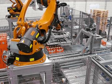 SEMI-STAAL (De)Palletizer Robot Arm