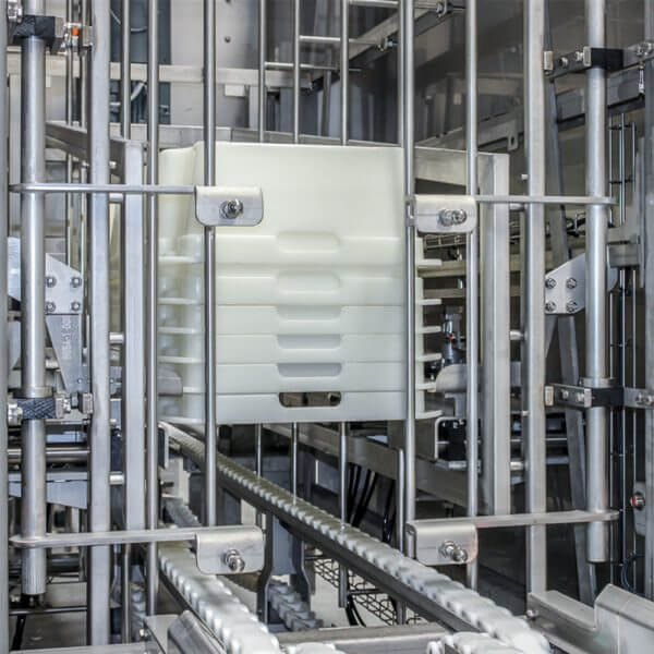 SEMI-STAAL (De)Stacker Systems with trays