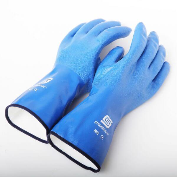 NBR Super grip cotton lined seties nitrile gloves